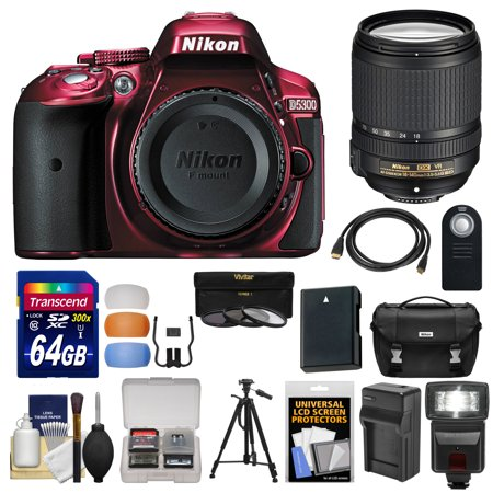 Nikon D5300 Digital Slr Camera Body Red With 18 140mm Vr