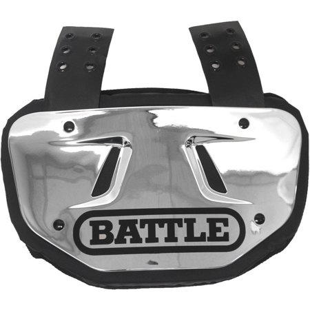 Battle Sports Science Youth Chrome Protective Football Back