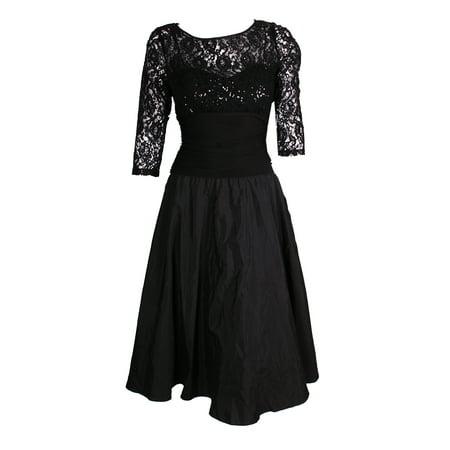 Jessica Howard Black Sequin-Embellished Three Quarter Length Fit Flare Dress - Buy Jessica Rabbit Dress