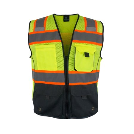 Kolossus Deluxe High Visibility Vest with Multi Frontal Pockets | ANSI Class 2 Compliant