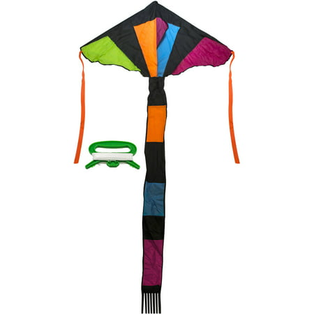 Matney Rainbow Delta Kite, Colorful and Fun Kite, Great for All Summer Activities, 46