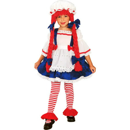 Rag Doll Girl Toddler Halloween Costume - Doll Face Makeup Halloween
