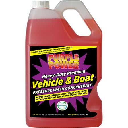 purple power heavy duty vehicle and boat pressure wash concentrate. Black Bedroom Furniture Sets. Home Design Ideas
