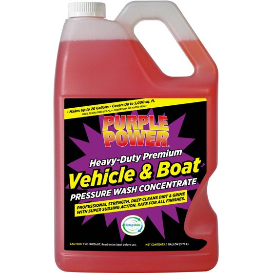 Purple Power Heavy Duty Vehicle and Boat Pressure Wash Concentrate