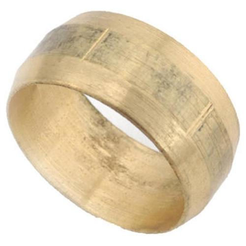 Anderson Metals 700060-03 Compression Sleeve, Lead-Free Rough Brass, 3/16-In.