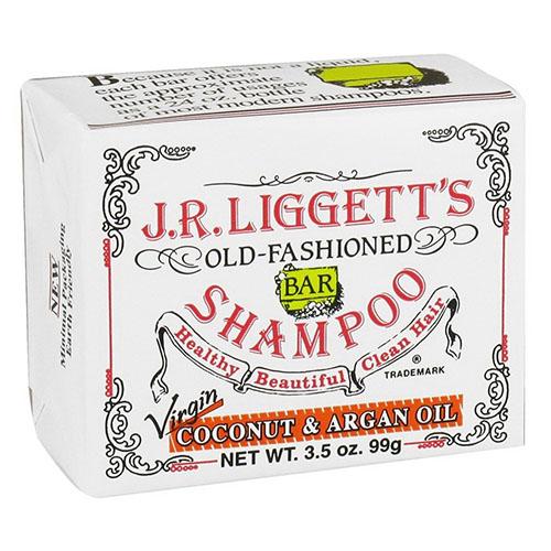 J.R. Liggett Bar Shampoo Coconut and Argan Oil, Virgin, 3.5 oz
