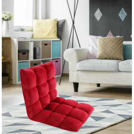 Chic Home Esme Microfiber Adjustable Recliner Floor Gaming Chair