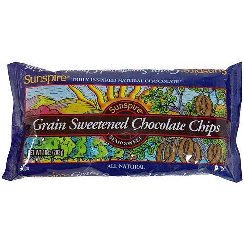 Sunspire Grain Sweetened Chocolate Chips, 10 oz (Pack of 12)