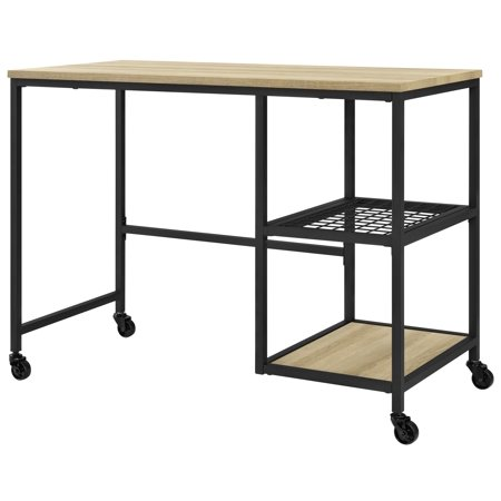 Ameriwood Home Broadview Mobile Computer Desk, Golden Oak
