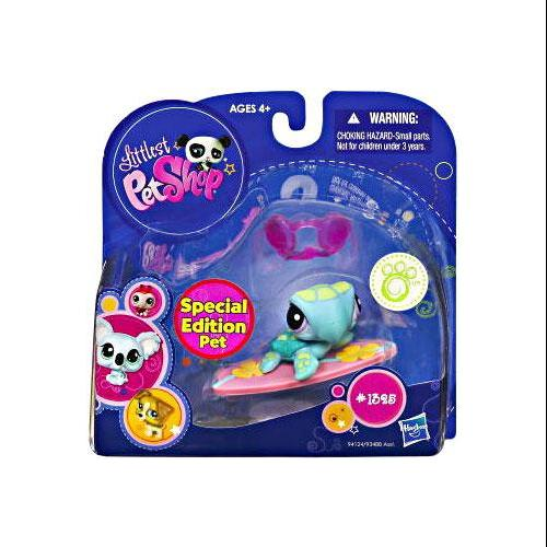 Littlest Pet Shop 2010 Assortment B Series 2 Sea Turtle Figure [Surfboard]