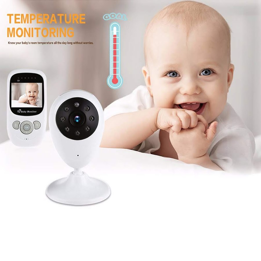 Baby monitor White & Black Wireless Video Baby Monitor Security Camera 2.4GHz Wireless digi tal LCD Color Baby Monitor Camera Melody 2X Security