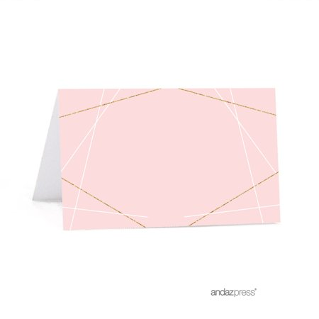 Signature Blush Pink, White, Gold Glittering Party Collection, Printable Table Tent Place Cards, - Party Printables
