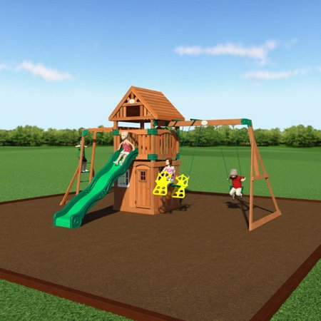 Backyard Discovery Castle Peak All Cedar Swing Set
