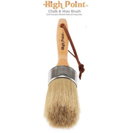 Large 2-in-1 Round Chalk & Wax Finishing Brush | Professional Quality For All Fine Art, Hobby & Chalk Paints, Faux Finishing, Stenciling & Wax Finishing [2