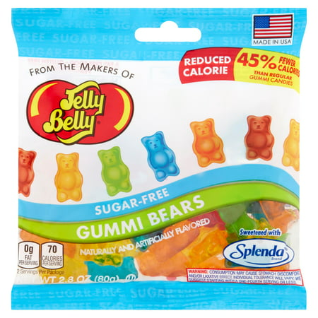 (3 Pack) Jelly Belly, Sugar Free Gummi Bears 2.8 Oz - Halloween Candy Belly