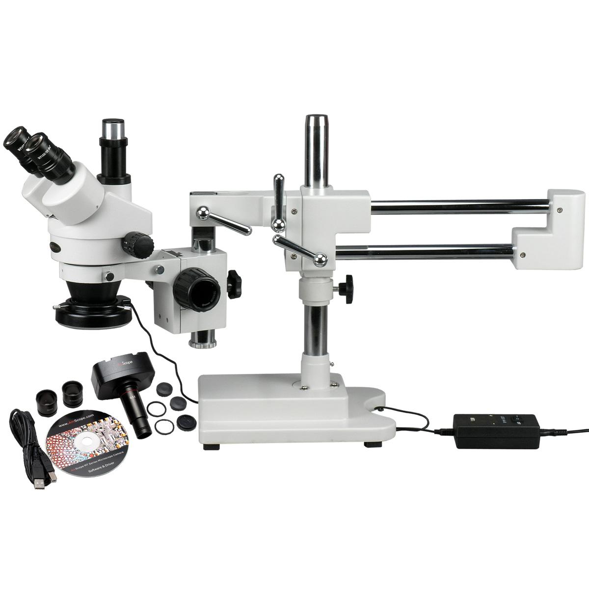AmScope 3.5X-90X Circuit Zoom Stereo Microscope + 144 LED Light + 10MP Digital Camera New by United Scope, LLC