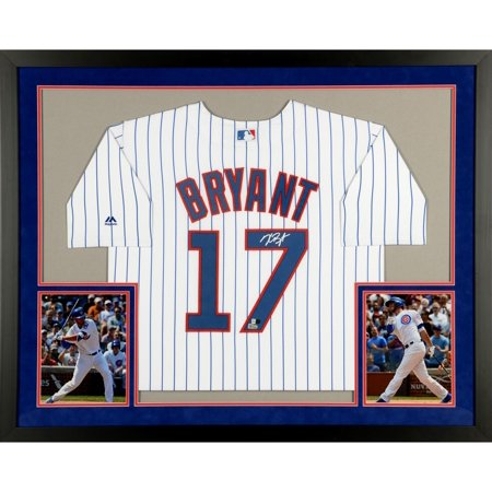 Kris Bryant Chicago Cubs SM Deluxe Framed Autographed Majestic White Replica Jersey - Fanatics Authentic Certified