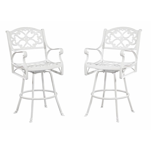 Home Styles Biscayne Bar Stool, White