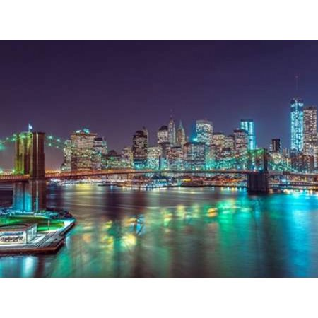 Brooklyn Bridge with Manhattan skyline New York Poster Print by  Assaf Frank