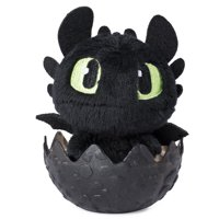 DreamWorks Dragons, Baby Toothless 3-inch Plush, Cute Collectible Plush Dragon in Egg, for Kids Aged 4 and Up