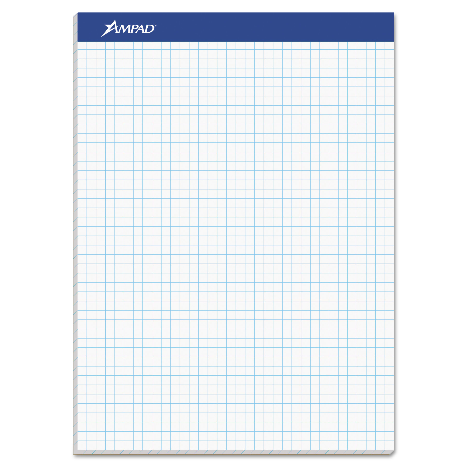 Ampad Quadrille Double Sheets Pad, 8 1/2 x 11 3/4, White, 100 Sheets -TOP20210