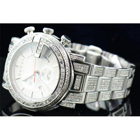 dd634660163 Gucci - Diamond Gucci Watch Ya101339 Mens 16.50 CT Custom G Bezel Fully Iced  Band - Walmart.com