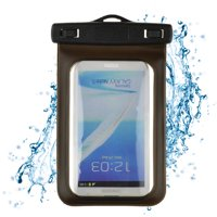 "Waterproof Case Smartphone Dry Pouch (Black) w/ Neck Lanyard - Compatible w/ iPhone XR/XS/XS Max/X/8+ Galaxy S10+/S9+ Note 9/8 Pixel 3 XL Phones up to 6.5"" Great for Swim Pool Beach Bath Travel"