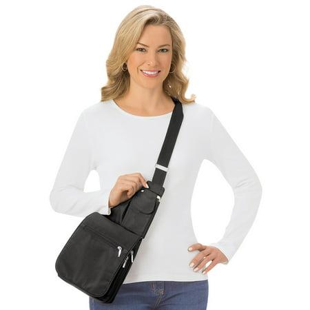 Women's Adjustable 2-in-1 Cross-body Shoulder Bag, Black