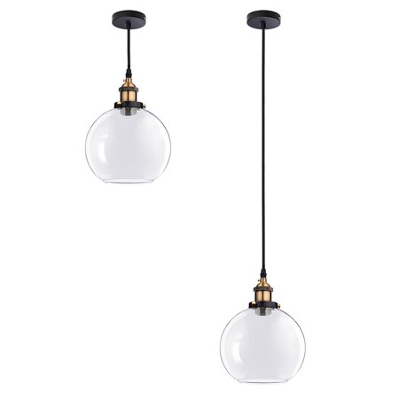 Yescom vintage industrial 79 glass ball ceiling light pendant yescom vintage industrial 79 glass ball ceiling light pendant chandelier light edison lamp cafe kitchen aloadofball Images