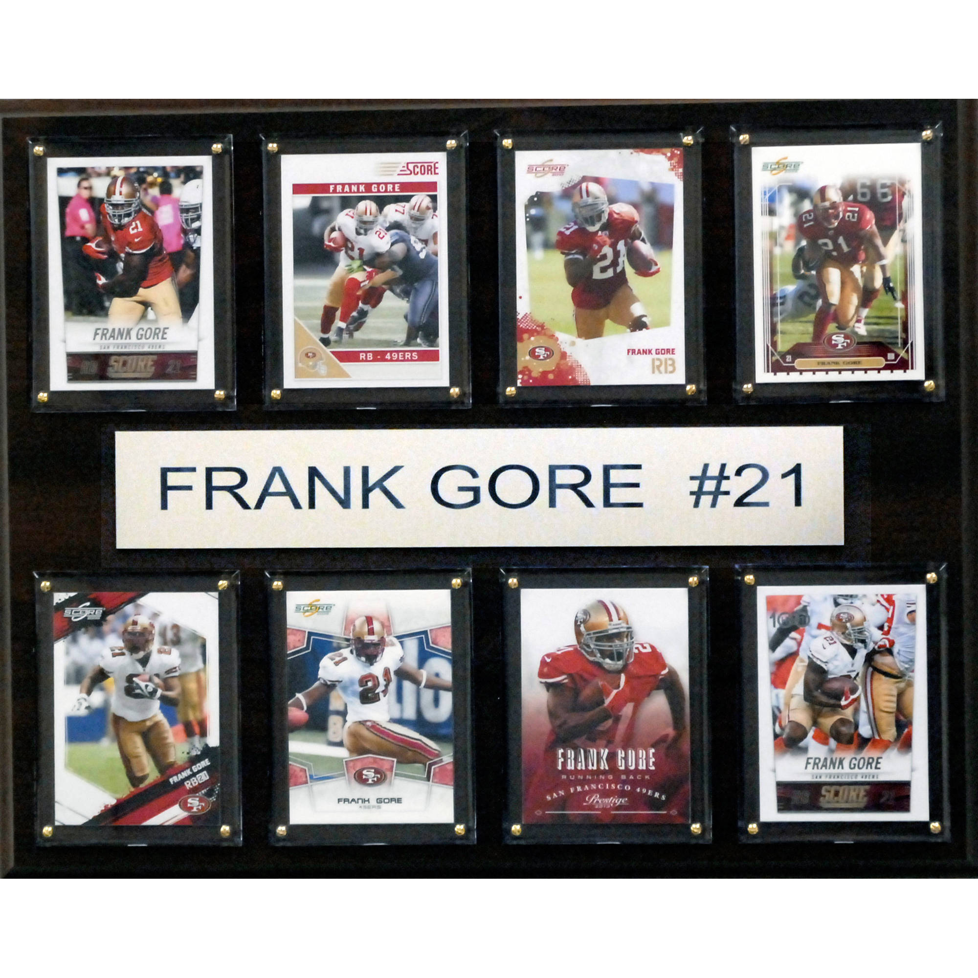 C&I Collectables NFL 12x15 Frank Gore San Francisco 49ers 8-Card Plaque