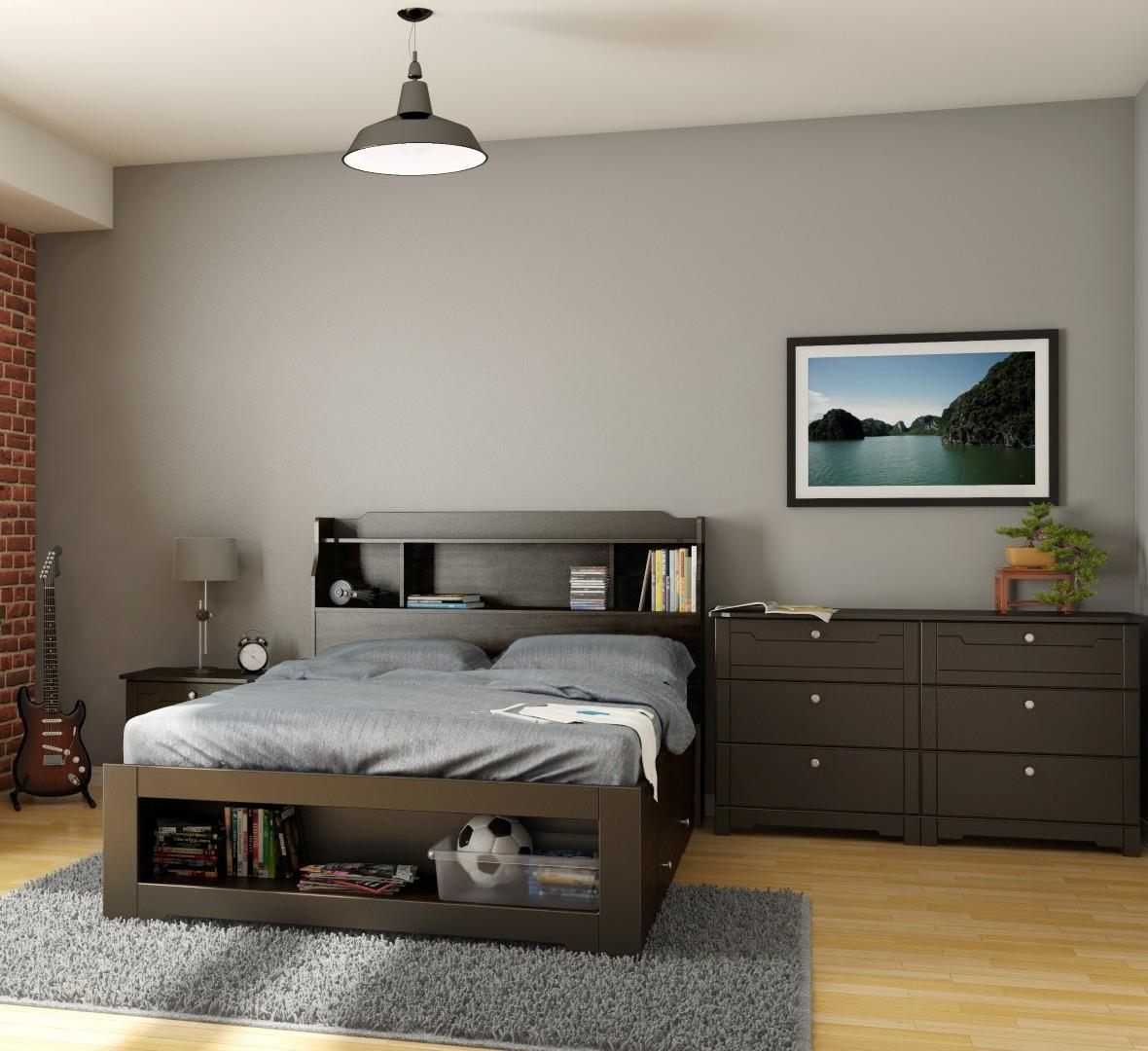 Dixon Bedroom Set Bundle-Finish:Matte Espresso