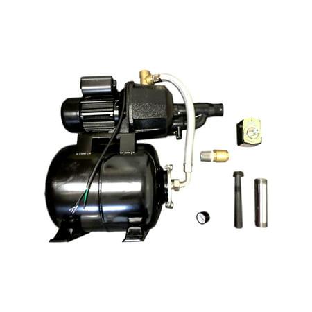 (Garden Jet Pump .5HP 950 Watts 1/2HP 120V 8 Amps Well Booster Tank Green House)