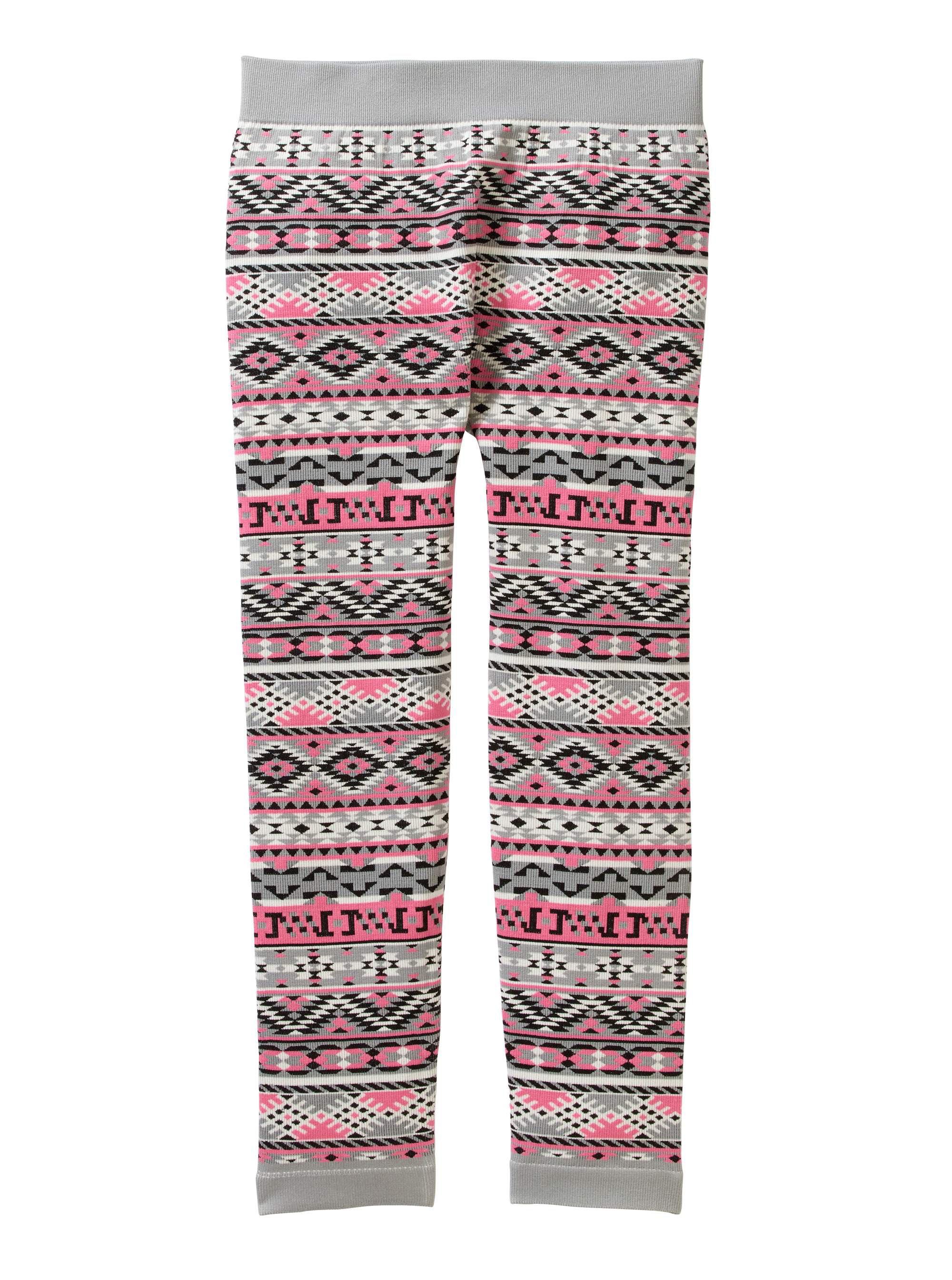 b7d48625fdf03 Faded Glory - Girls' Fashion Essential Jacquard Texture Leggings - Walmart .com