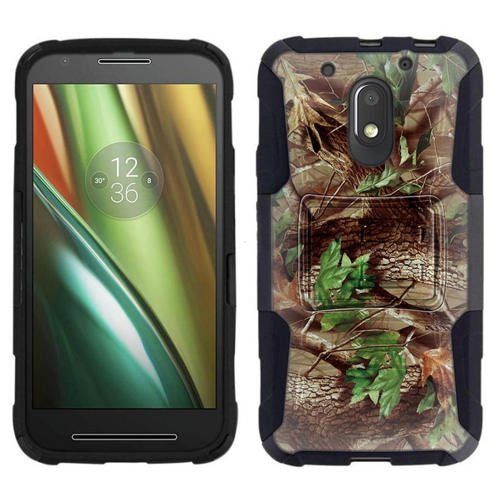 Motorola Moto E3 Armor Hybrid Case - Tree Camouflage Hunter