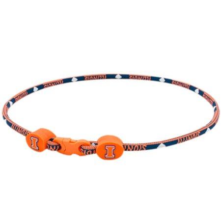 Illinois Fighting Illini Titanium Sport Necklace Titanium Sport Health Necklace