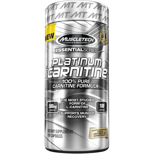 MuscleTech Essential Series Platinum 100% Creatine Capsules, 180 Ct