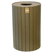 Eco-friendly Round Trash Receptacle (Black)