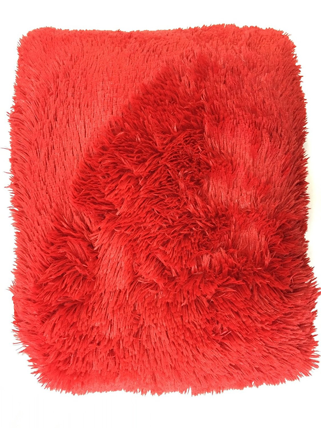 3 Piece King Holiday Red Sherpa Faux Fur Borrego Blanket soft cozy and warm Hollywood... by