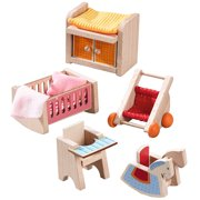 HABA Little Friends Children's Nursery Room - Dollhouse Furniture