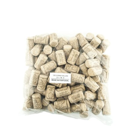 Corks 100 New - #8 Short Agglomerated Natural Cork 38 x 22 mm for Home Wine Making Bottles or Bulk Craft & Art Supplies