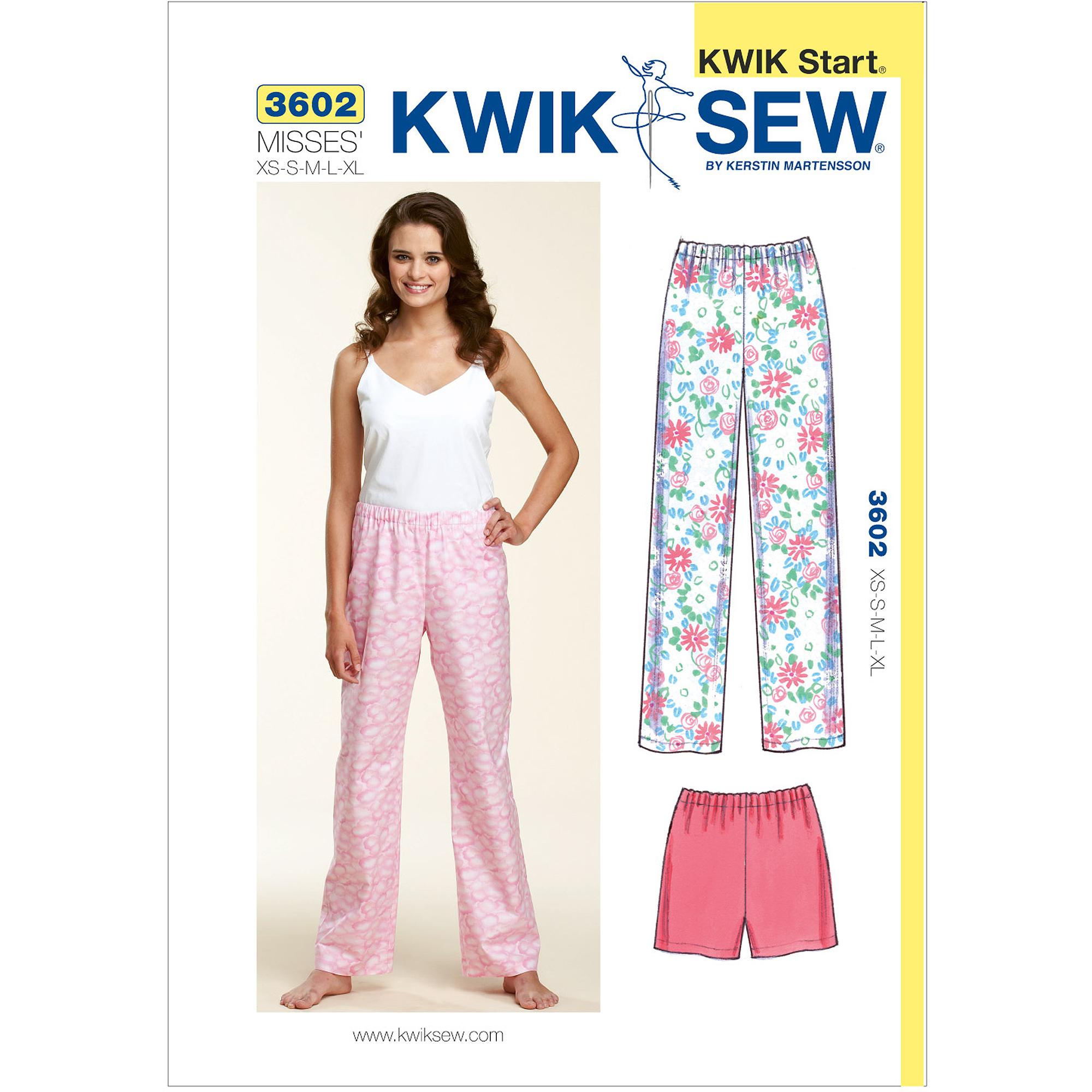 Kwik Sew Sleep Pants and Shorts, (XS, S, M, L, XL)