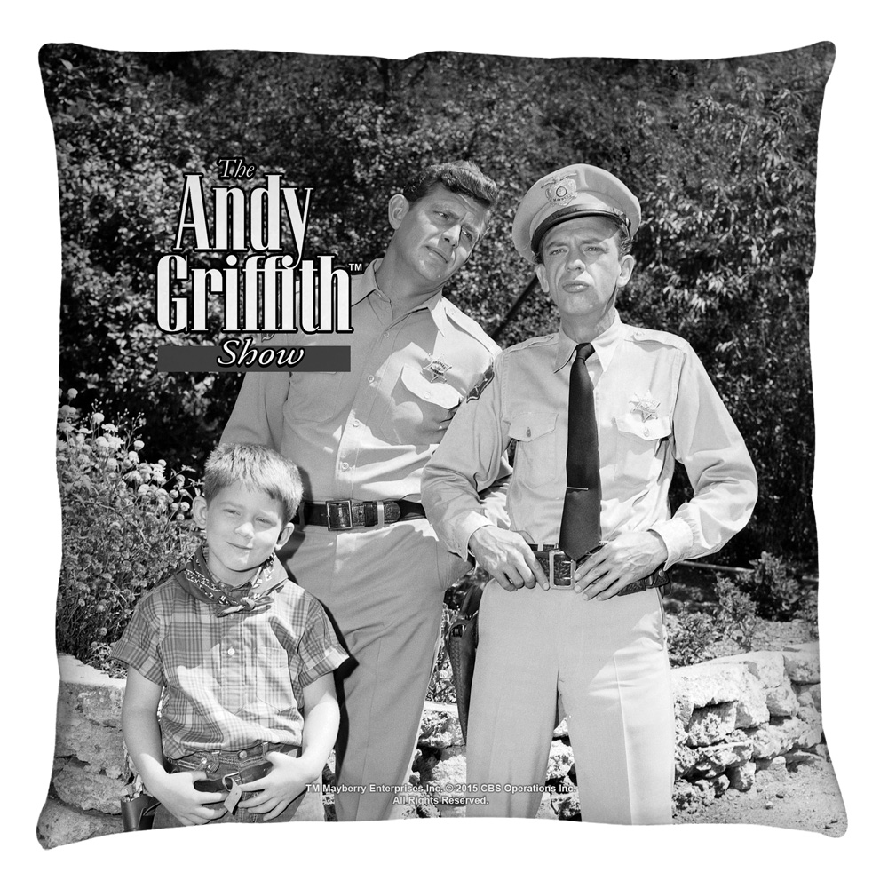 Andy Griffith Lawmen Throw Pillow White 16X16