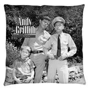Andy Griffith Lawmen Throw Pillow White 18X18