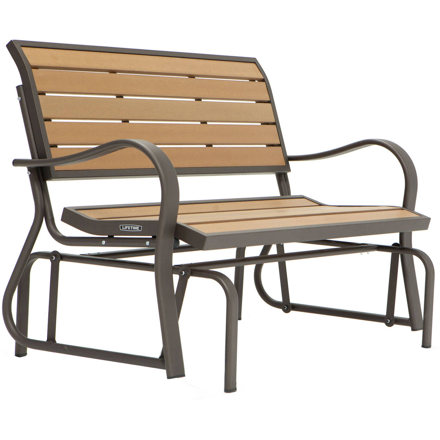 Lifetime Wood Alternative Glider Bench, 60055   Walmart.com