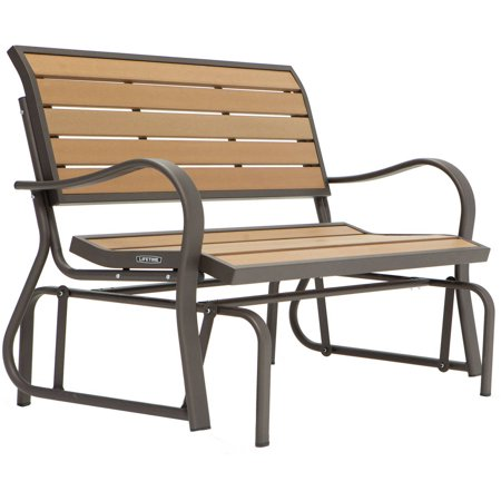 Lifetime Wood Alternative Glider Bench 60055 Walmart Com
