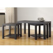 Ameriwood Home Coffee Table and End Table 3-pc. Set, 5082096, 18 X 35 X 16, Black