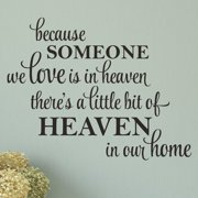 Belvedere Designs LLC A Little Bit Of Heaven In Our Home Wall Quotes  Decal