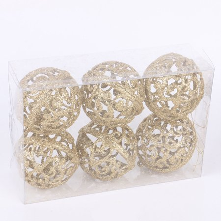 6cm Christmas Xmas Tree Ball Bauble Hanging Home Party Ornament Decor ()
