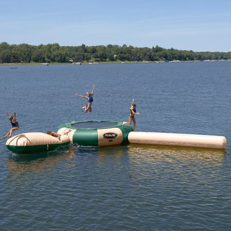 - RAVE Sports 20 ft. Northwoods Aqua Jump Water Trampoline with Launch and Log Waterpark