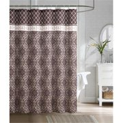 Luxury Home Rimini Embossed Microfiber Shower Curtain, Brown - 72 x 72 inch